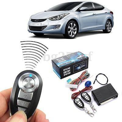 Car 2 Remote Central Door Lock Kit Locking Keyless Entry System Remote Control