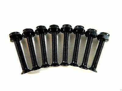 "1 Set (8 Bolts/Nuts) 1 3/4"" Inch Skateboard Longboard Hardware Phillips"