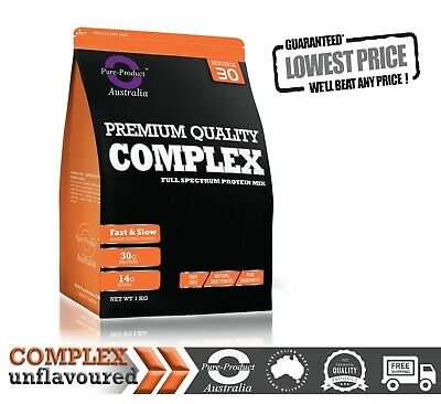 2KG Pure Complete Whey Protein Blend WPI/WPC/Casein Powder RAW
