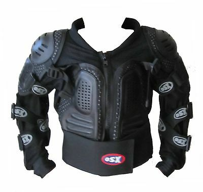 Kids Body Armour Motorcycle Motorbike Motocross spine Protector Guard Jacket OSX