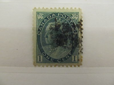 A1P5 CANADA 1898-1902 1c DEEP GREEN USED