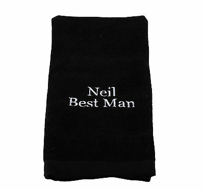 Personalized Embroidered Golf Towel Embroidery Birthday Fathers Day Gift Men