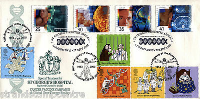 1994 Medical - Sajal Official - Doubled with a full set of 2003 DNA stamps