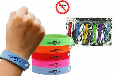 10 x Mosquito Insect Repellent Natural Non-Toxic Wrist Band Bracelet Camping