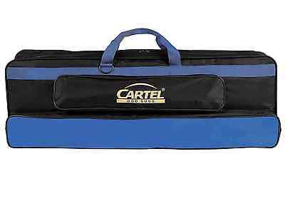 New Cartel Take Down 701 Recurve Bow Carry Case Grip Bag Nylon Black & Blue