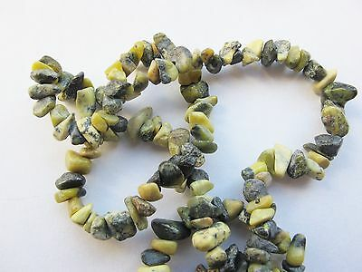 "Yellow turquoise chip beads 16"" lime green black grey 4mm - 8mm"