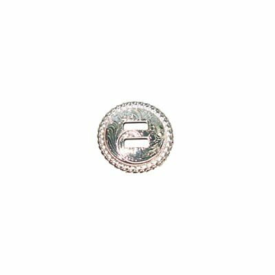 """Sierra Slotted Concho 1"""" (25mm) Silver Plated 7941-12"""