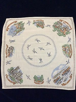VTG Irish Linen Co Torquay & Paignton Souvenir Tablecloth England
