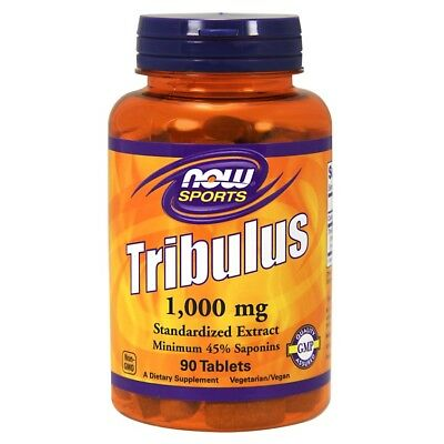 NOW Foods Sports TRIBULUS 1000mg Natural Testosterone Booster - 90 tablets