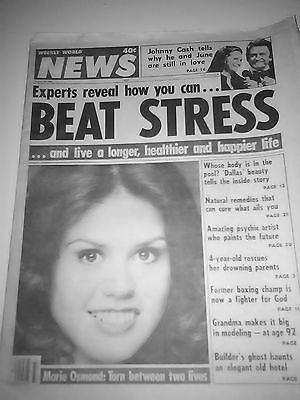 Marie Osmond on cover of Weekly World News 1981