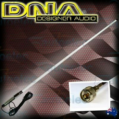 Dna Bushstick Heavy Duty White Fiberglass Hi Gain Uhf Cb Radio Antenna Bull Bar