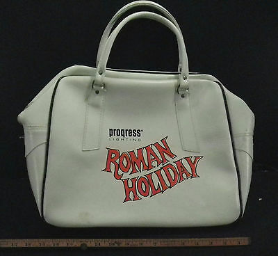 Vintage Pan Am ROMAN HOLIDAY Carry On BAG white 1960s Airlines