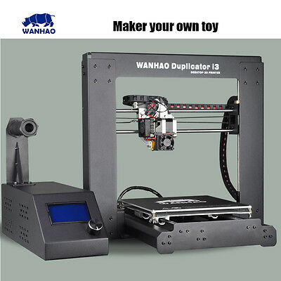 2015 Upgraded High Precision wanhao Prusa i3 V2 DIY 3d Printer with LCD