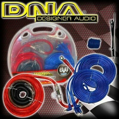 Dna 1200W Car Audio 4 Channel Power Amplifier Amp Wiring Kit Cable Rca Aak106