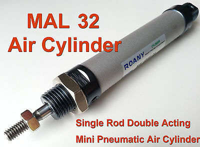 NEW MAL 32mm x 200mm Single Rod Double Acting Mini Pneumatic Air Cylinder 32x200