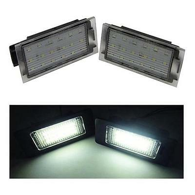 Renault Megane Mk3 18 SMD LED Rear License Plate Replacement Units 6000K