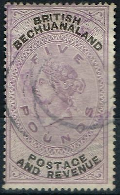 Bechuanaland 1888 £5 Lilac & Black SG21 Fine Used Fiscal Cancel
