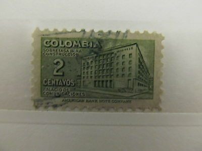 A1P6 COLOMBIA POSTAL TAX 1948-50 2c USED