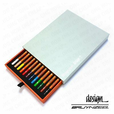 Bruynzeel Design - High Quality Colouring Pencils - Artist Box of 12