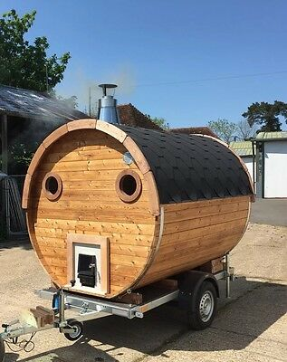 Mobile Barrel Sauna For sale and hire