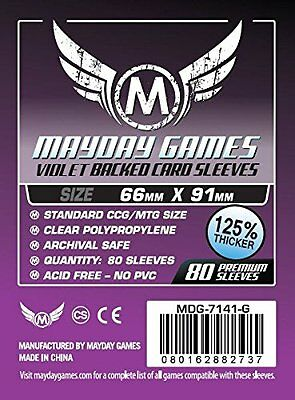 Mayday - Purple Premium Card Sleeves 63.5mm X 88mm - Pack of 80