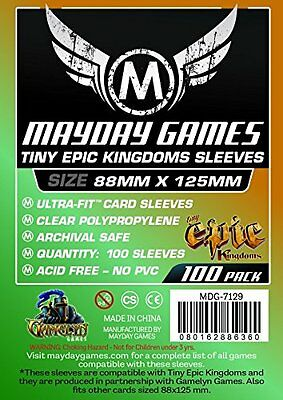 Mayday - Clear Standard Card Sleeves 88mm X 125mm - Pack of 100