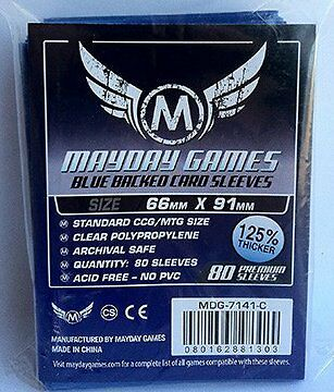 Mayday - Blue Premium Card Sleeves 63.5mm X 88mm - Pack of 80