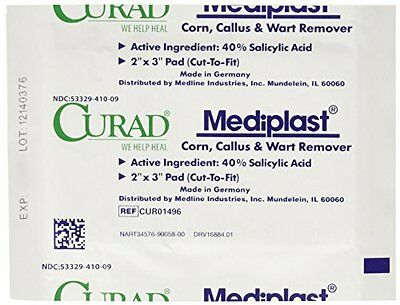 2 Pack Medline CURAD Mediplast Wart Pads, 1 Each