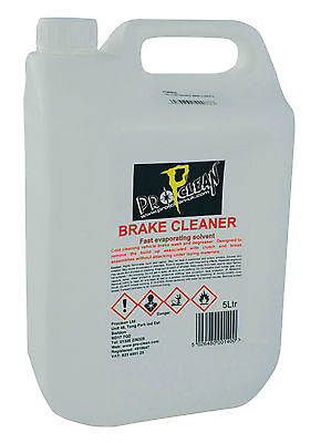 New Pro Clean Powerful Brake Cleaner 5L Workshop Garage Home Motor Vehicle Use