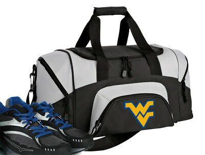 SMALL WVU DUFFLE Gym Bag or West Virginia Overnight Duffel LOTS of POCKETS!