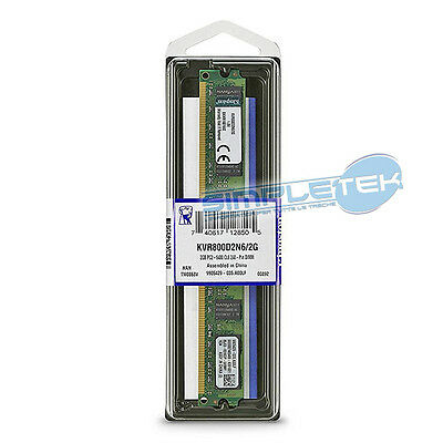 Kingston Ram 2GB DDR2 800Mhz PC2-6400 CL6 - AMD & INTEL