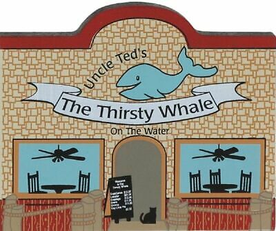 Cat's Meow Village Whimsical Uncle Ted's Thirsty Whale Restaurant #01-612 NEW