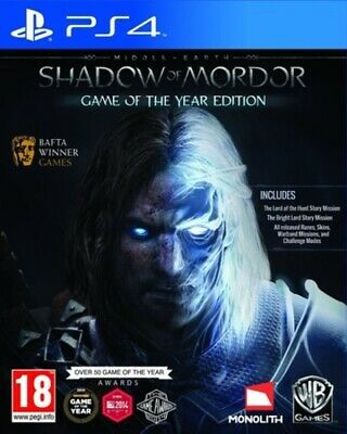 Middle-earth: Shadow Of Mordor: Game of the Year Edition (PS4) PEGI 18+