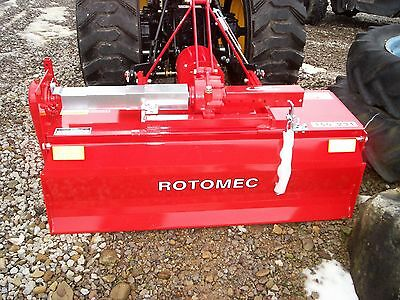 """SPECIAL FALL PRICE Rotomec Three Point Rear PTO 66"""" tiller AND SLIDE REAR 12INCH"""