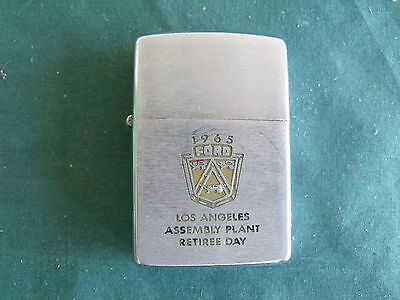 Vintage 1965 Ford Mustang Galaxie Zippo Lighter Los Angeles Sign