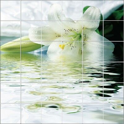Stickers Tile Wall Deco Flower on L' Water 1857