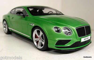 GT Spirit 1/18 Scale Bentley Continental GT V8S Metallic Green Resin Model Car