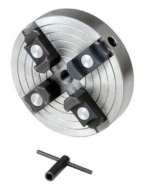 """4-Jaw x 6"""" Independent Wood Lathe Chuck with 1-8 Thread & Reversible Jaws"""