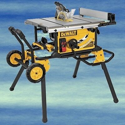 DEWALT 10 Inch Jobsite Table Saw Rolling Stand Excellent Stability Cutting #4101