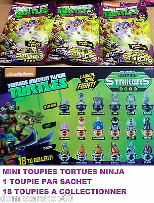 Mini TOUPIE TORTUES NINJA (Spin Strikers) - 1 à 12 Sachets - 18 à collectionner