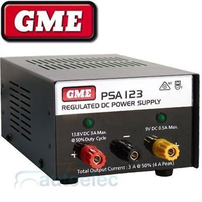 Gme 12 Volt Regulated 4 Amp Amps  Power Supply For Home Base Uhf Cb Psa123