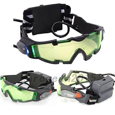 Night Vision Goggle With Flip-Out Lights Green Lens For Hunting Outdoor Child