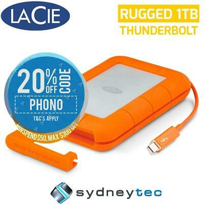 New Lacie 1TB Rugged Thunderbolt & USB 3.0 Portable Hard Drive STEV1000400