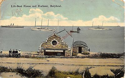 Wales Postcard Lifeboat House and Harbour Holyhead  W1 015