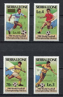 s6133) SIERRA LEONE 1986 MNH** WC Football'86-CM Calcio 4v.-WINNERS