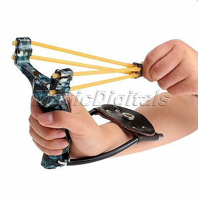Outdoor Hunting Stainless Steel Slingshot Catapult Folding Wrist Brace Support