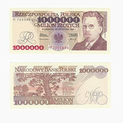 1993 POLAND - 1,000,000 Zlotych Banknote - P.162 - UNC.