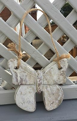 Garden Butterfly Shabby Stone Effect Chic Rustic Patio Wall Plaque String Small