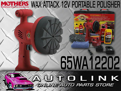 Wax Attack Portable Polisher Kit 12V Hard Case Rechargeable X2 Batteries