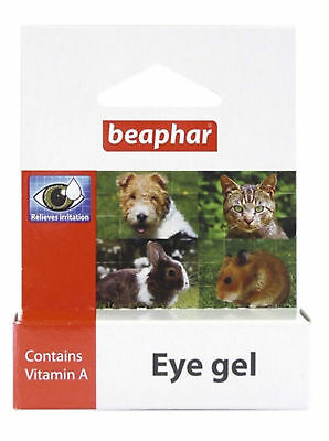 Beaphar Eye Gel Soothes Irritation Cleans Eyes Cats Dogs Rabbit Hamster Gerbil